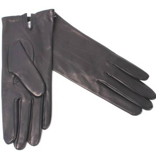 Italian Leather ladies glove with silk lining  navy Code-S/LL2362S
