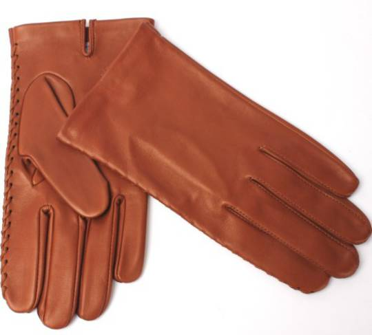 Mens Italian leather gloves unlined cognac Code: S/ML2847U