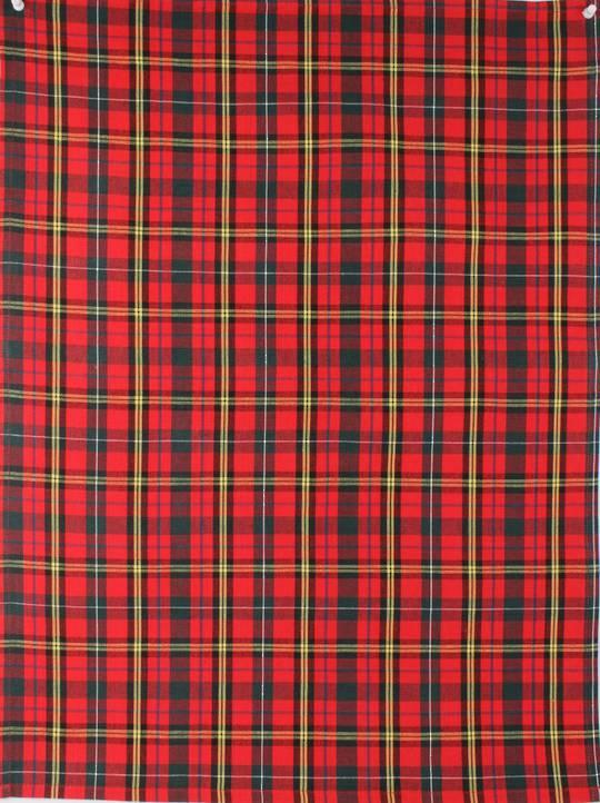 Tea towel 'Christmas Tartan' red Code: T/T- TAR/RED