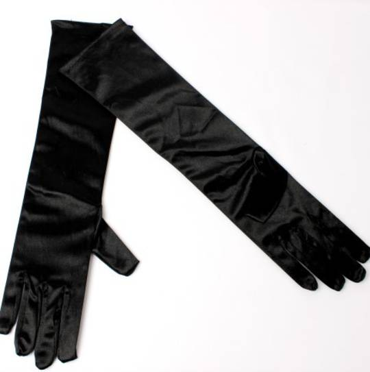 Evening glove of elbow  length 12bl black Code:S/EV5232