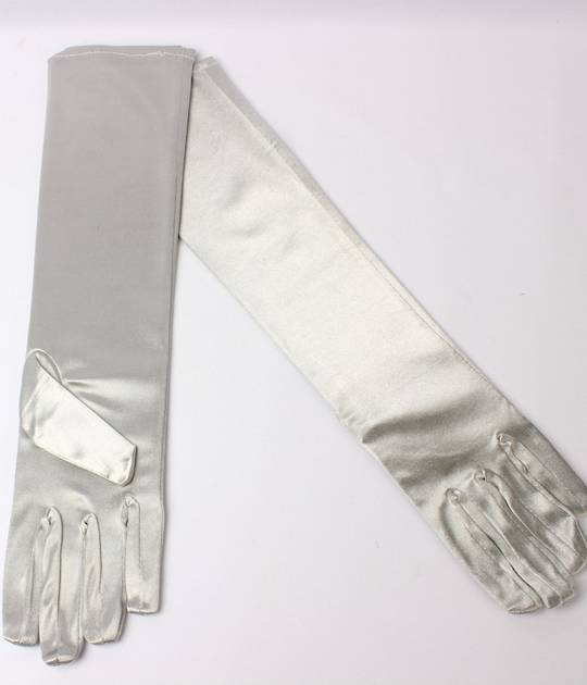 Evening glove of elbow length 12bl silver Code:S/EV5232