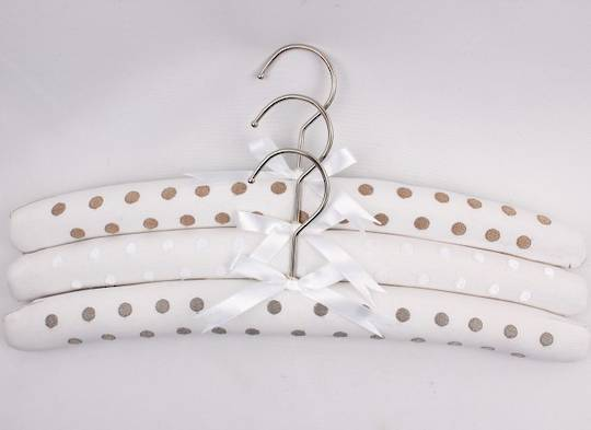Embroidered coat hangers-set of 3 'new spots' Code:EH/NSPOTS