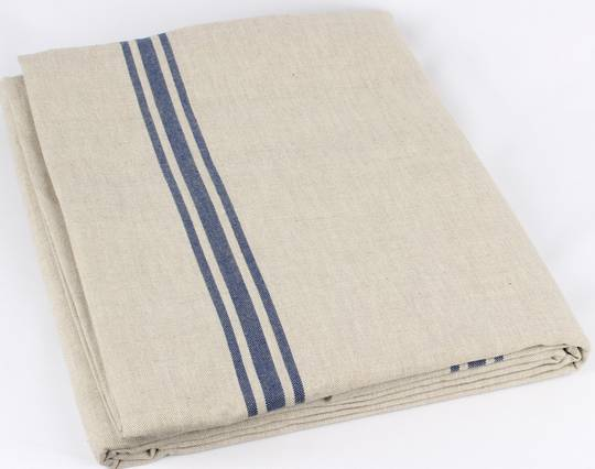 Marseille linen union table cloth 150X250cm blue Code: TC-MAR/250/BLU