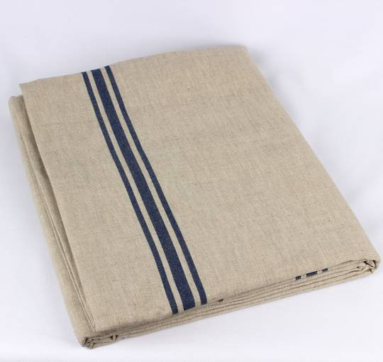 Marseille linen union table cloth 140x180cm blue Code: TC-MAR/180/BLU