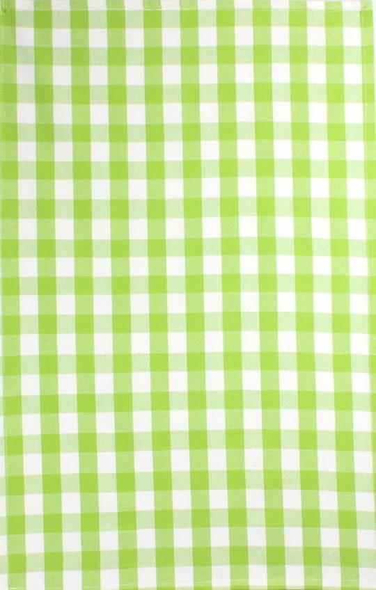 Tea Towel 'Nevada Check' lime Code: T/T- NEV/CHK/LIM