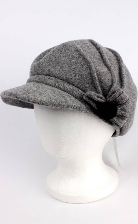 Headstart wool felt cap w pleats,flower grey Style : HS/1411