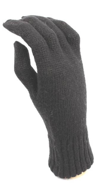 Ladies lambswool glove black S/LK2355-A