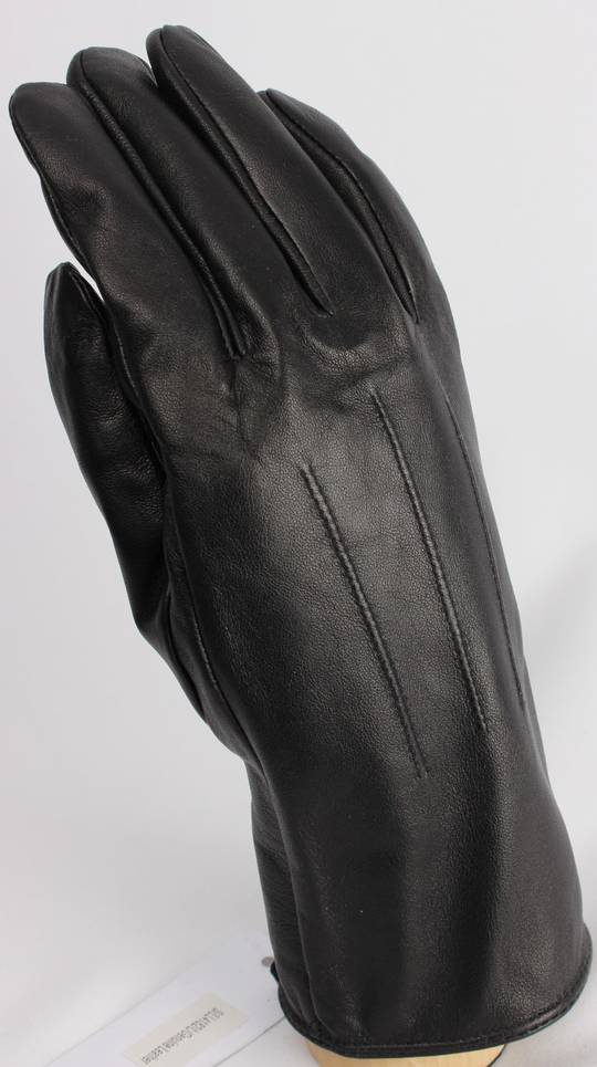 Classic 3 point genuine leather glove, black, medium or large Code: S/LL4182