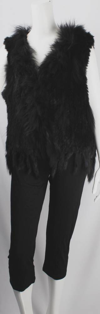 Alice & Lily fur vest plain black STYLE: SC/4374 BLK NEW SHIPMENT ARRIVING LATE MAY ORDER NOW