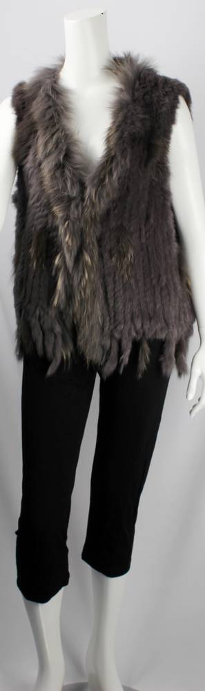 Alice & Lily fur vest plain grey STYLE: SC/4374 GRY NEW SHIPMENT ARRIVING LATE MAY ORDER NOW