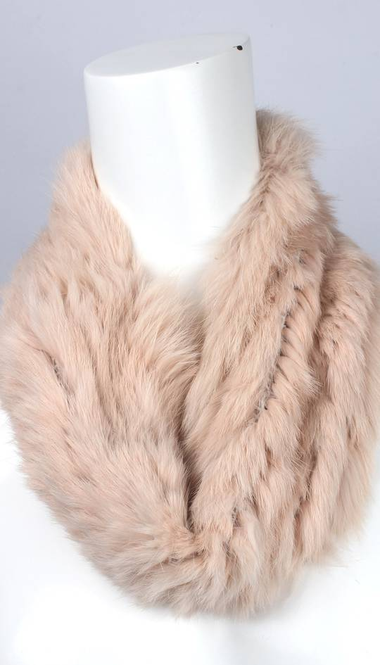 Alice & Lily fur snood blush STYLE: SC/4375BLSH- NEW SHIPMENT ARRIVING LATE MAY ORDER NOW