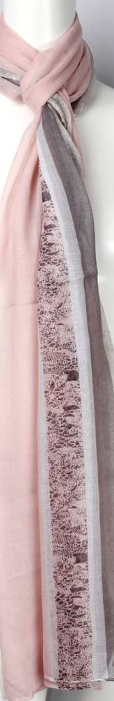 Printed  scarf pink Style:SC/4459/PNK