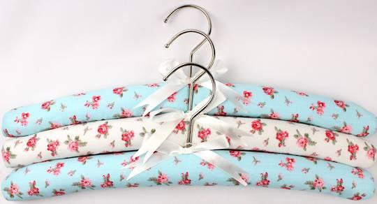 Printed padded coat hangers-set of 3 'Summer' Code:EH/SUM