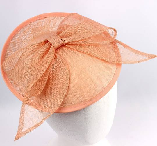 Bow Hatinator with upturn Coral,Hot Pink,Ivory Style: HS/1325