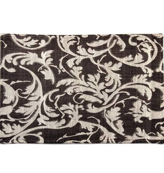 Hot house jacquard placemats scroll black Code: PM/SCR/BLK