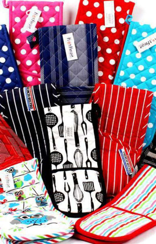 Oven gloves -designs to match most kitchens