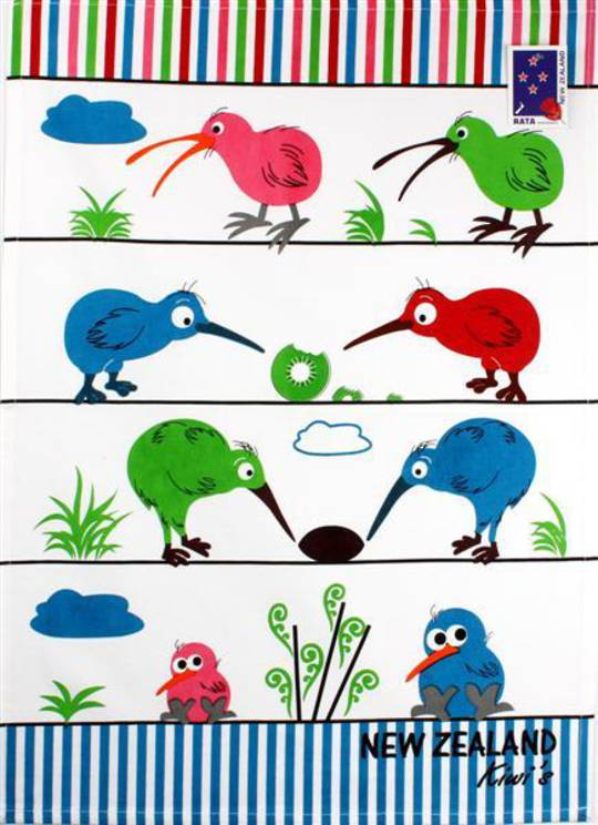 Tea towel bright kiwi Code:S100/BK