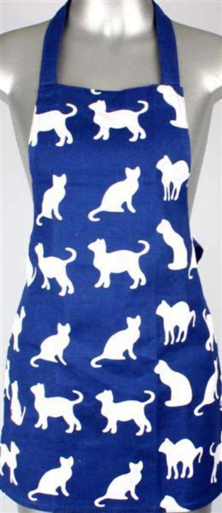 Shadow cats childrens apron royal Code:APR-SH/CAT/CHI/ROY CLEARANCE