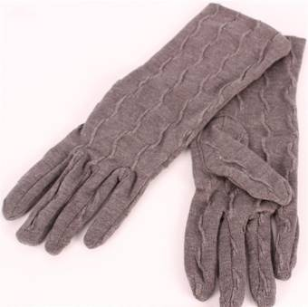 Textured knit glove charcoal S/LK3255