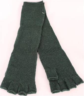 Ladies wool/angora  fingerless  glove forest S/LK2366