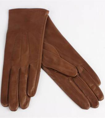 Shackelford Italian Leather ladies glove with silk lining  Havana Code-S/LL2362S
