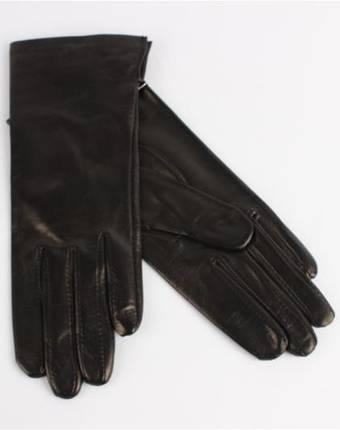 Italian Leather ladies glove with silk lining black Code-S/LL2394S