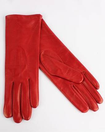 Italian Leather ladies glove unlined red Code-S/LL2724U