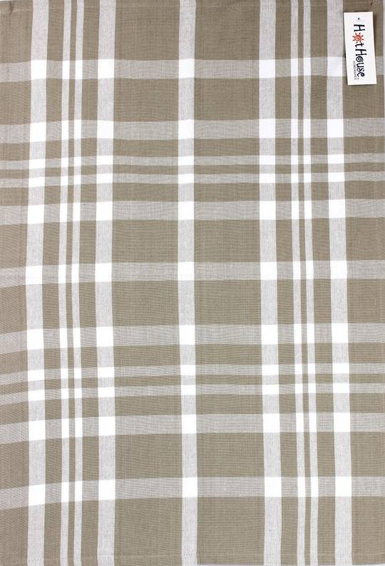 Tea towel 'Newport check' linen Code: T/T- NEW/CHK/LIN