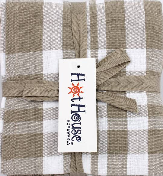 THREE PACK-Tea towel 'Newport' linen Code: T/T-NEW/3PK/LIN