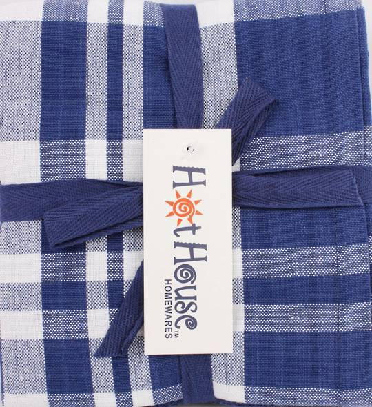 THREE PACK-Tea towel 'Newport' navy Code: T/T-NEW/3PK/NAV