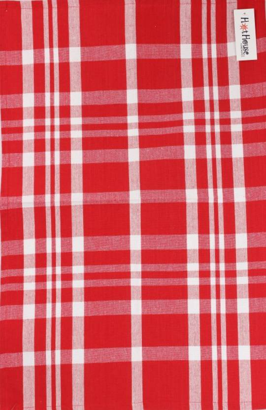Tea towel 'Newport check' red Code: T/T- NEW/CHK/RED