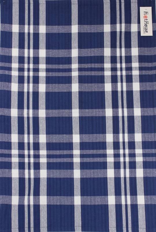Tea towel 'Newport check' navy Code: T/T- NEW/CHK/NAV