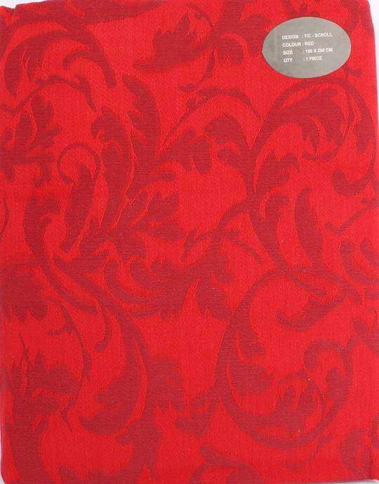 Scroll tablecloth red 150X250CM Code:T/C-SCR/250/RED