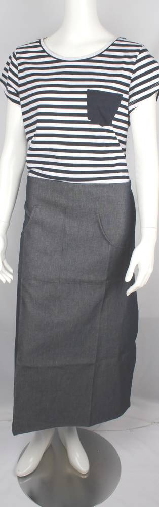 Solid denim navy half apron Code: APR- HALF/DEN/NAV