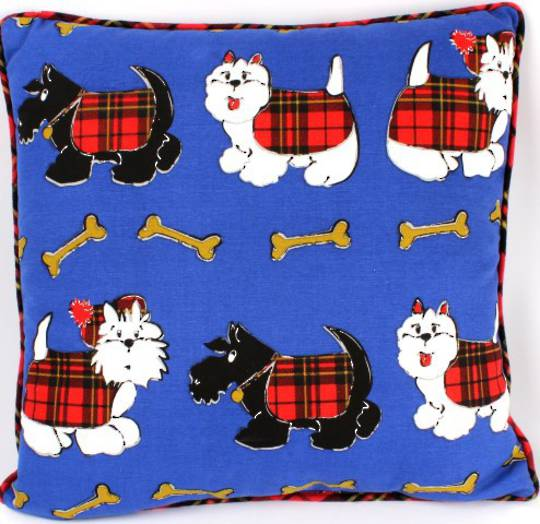 Cushion filled  Scottie Dog CUS-SD CLEARANCE