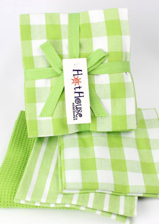 THREE PACK-Tea towel 'Nevada' 3pack lime multi Code: T/T-NEV/3PK/LIM