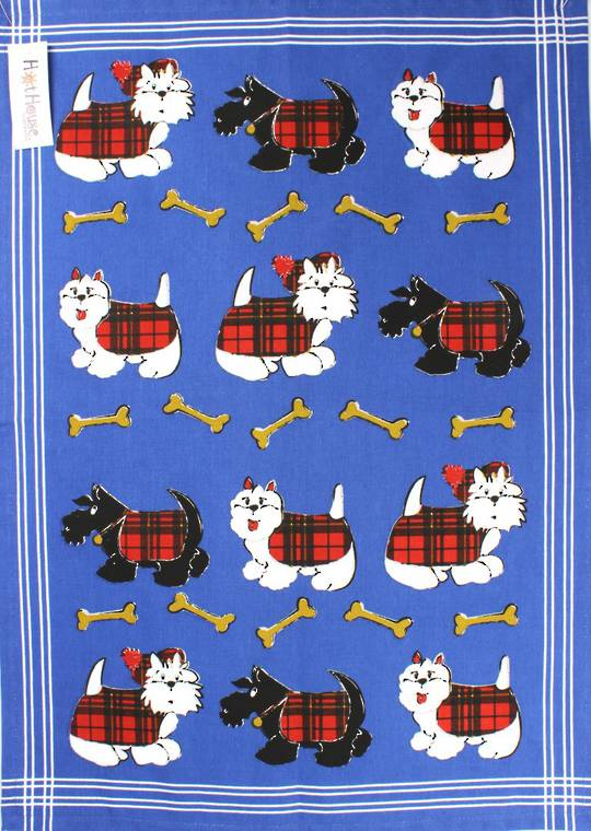Tea Towel Scottie Dog Code:T/T-SD