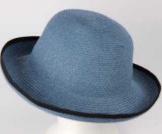 Ladies contrast braid hat blue Style : HS/1379