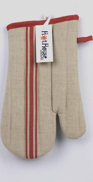 Marseille linen union oven glove red Code: OG-MAR/RED