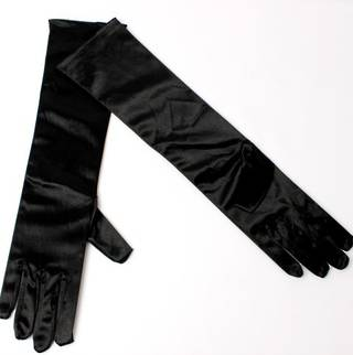 Evening glove of length 8bl black Code:S/EV5231