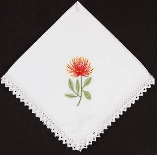 Embroidered lace handkerchiefs 'POHUTUKAWA ' Style: EHC/NPOH