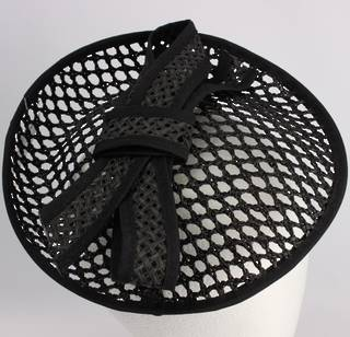 Hatinator woven w black bow on black & wht/blk bow on black Style: HS/1362