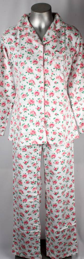 Brushed cotton winter pyjamas pink floral Style; AL/ND-179