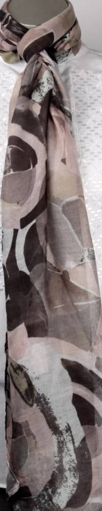 Printed  scarf beige Style:SC/4223/BEI