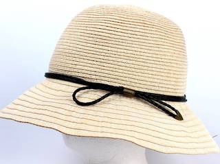 Packable braid hat w band beige Style: H/4234