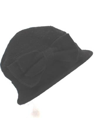 Soft 100% wool  hat w bow black Style: HS/4240BLK