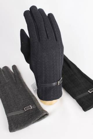 Cable thermal glove w buckle black grey navy Style; S/LL4250