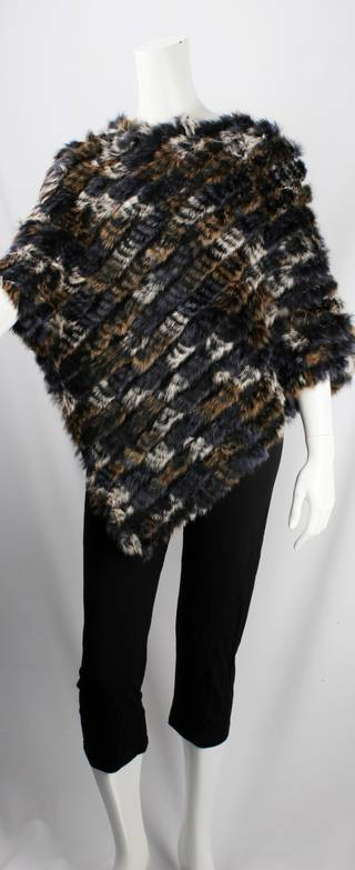Alice & Lily fur poncho multi grey STYLE: SC/4254 GRYMULTI SOLD OUT