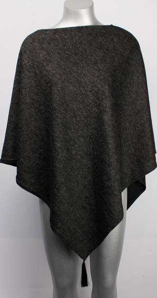 Alice & Lily poncho w tassles black STYLE: SC/4270 BLK