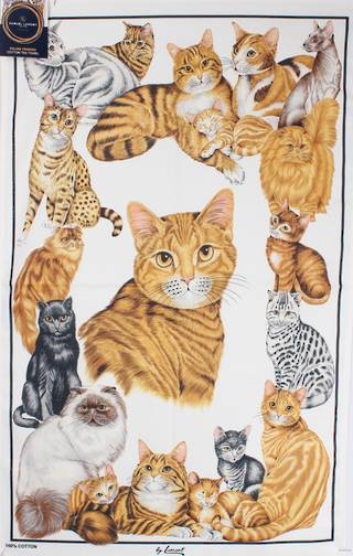 Samuel Lamont 'Feline friends'  tea towels Code:TT- 429